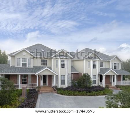bungalows - stock photo