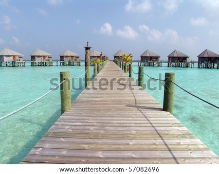 Bungalows at Maldives