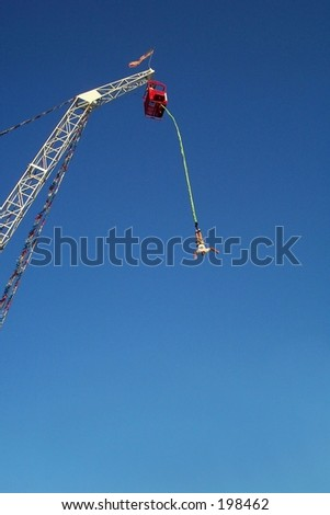 bungee jumper - stock photo