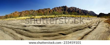 Bungle Bungle national park, Western Australia,. Australia - stock photo