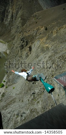 Bungy jumper - stock photo