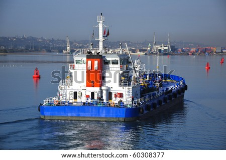 bunker barge - stock photo