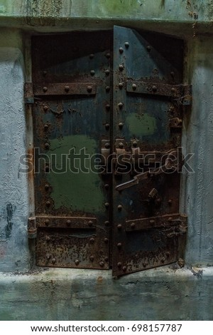 Bunker doors closed. & Bunker Doors Closed Stock Photo (100% Legal Protection) 698157787 ...