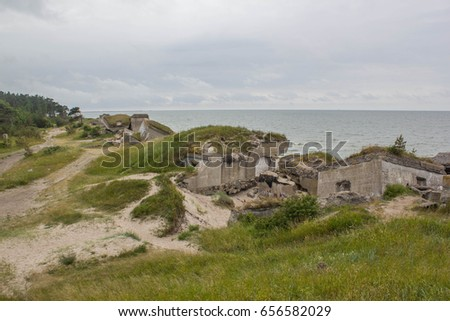 Bunker near the sea