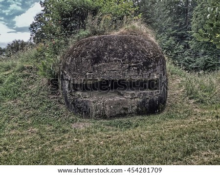 Bunker of WW2 in France, Alsace - stock photo