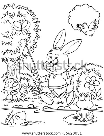 Bunny fisher - stock photo