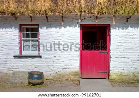 Bunratty Folk Park - Loop Head House in Ireland. - stock photo