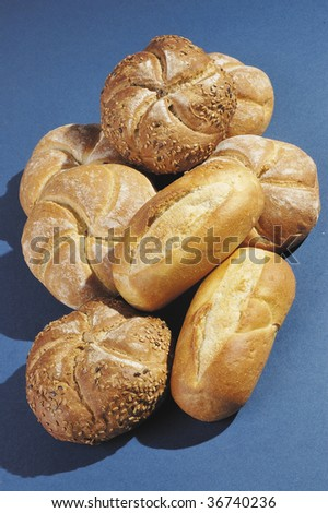 Buns and rolls with sesame seeds