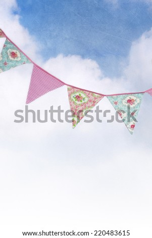 Bunting against a textured sky - stock photo