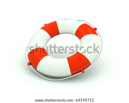 Buoy icon. Red series