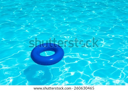Buoy On Water Pool - stock photo