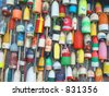 Buoys at the docs - stock photo
