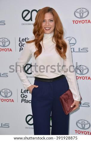 BURBANK, CA - OCTOBER 24, 2015: Actress Rachelle Lefevre at the 25th Annual Environmental Media Awards at Warner Bros. Studios, Burbank - stock photo