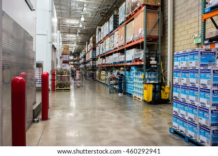 Burbank, CA, USA: July 27, 2016: Costco Wholesale recently reported that their earnings per share growth will be 12.90% over the next five years.