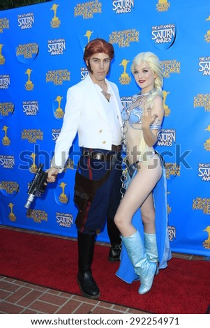 BURBANK - JUN 25: Cosplayers at the 41st Annual Saturn Awards at The Castaway on June 25, 2015 in Burbank, California, - stock photo