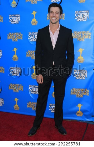 BURBANK - JUN 25: Drew Roy at the 41st Annual Saturn Awards at The Castaway on June 25, 2015 in Burbank, California, - stock photo