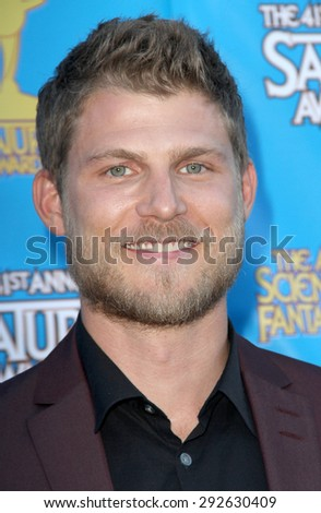 BURBANK - JUNE 25: Travis Van Winkle arrives at the 41st Annual Saturn Awards on Thursday, June 25, 2015 at the Castaway Restaurant in Burbank, CA. - stock photo