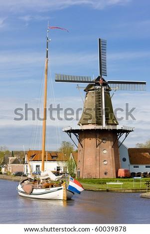 Burdaard, Friesland, Netherlands - stock photo