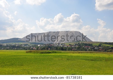 Burden dump Monte Kali near Heringen, Germany - stock photo