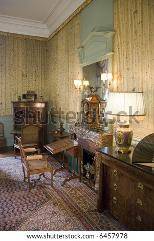 Bureau in Chateau Cheverny. Loire Valley, France. - stock photo
