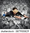 Bureaucracy sea - stock photo