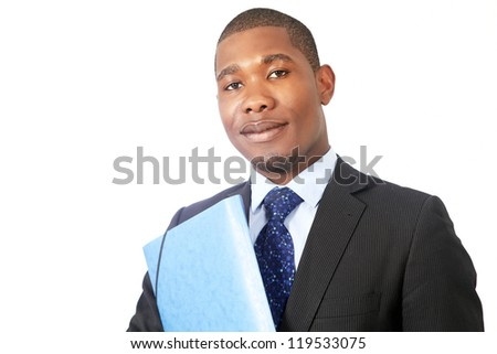 Bureaucrat or government official with file - stock photo