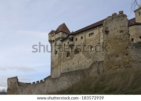 Burg Liechtenstein beginning of the 20th century served as a museum of the Castle family.  - stock photo