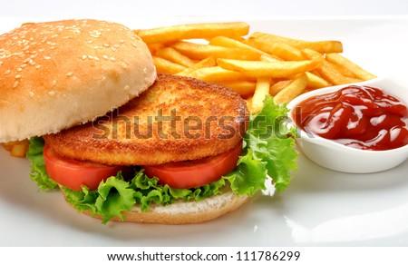 Burger--5 - stock photo