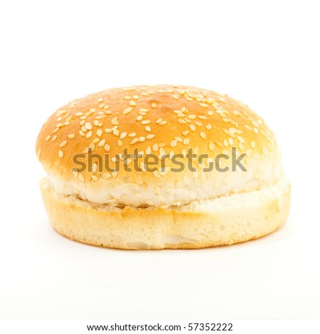 burger bread on white background