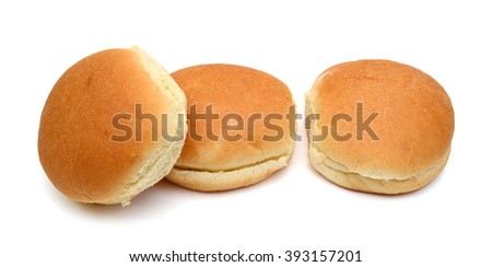burger buns isolated on white