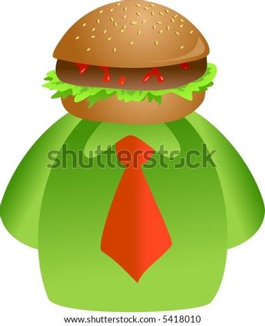 burger face - stock photo
