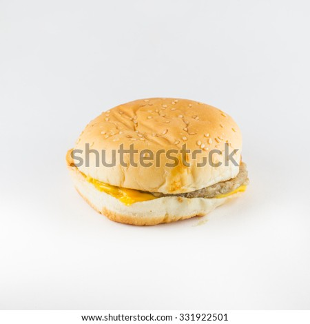 Burger,fast-food with isolate white background