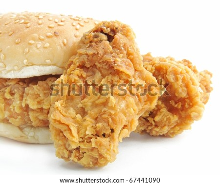 burger Fried chicken Meal