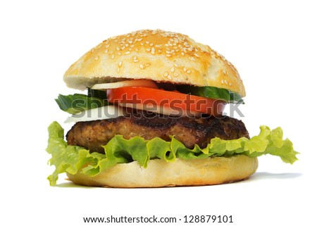 burger isolated