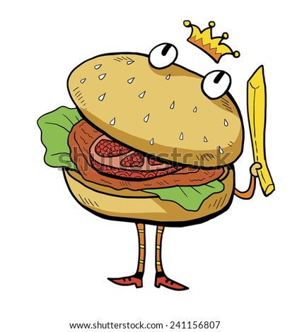 Burger King Cartoon Character Illustration