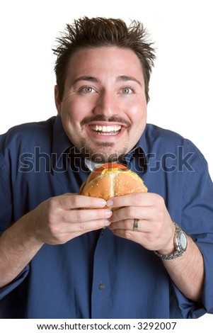 Burger Man - stock photo