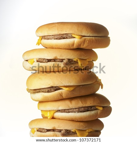 Burger pile - stock photo