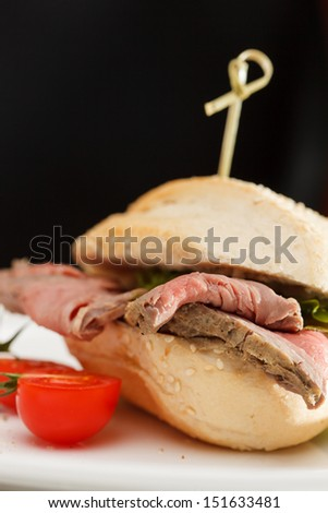 burger with beef - stock photo
