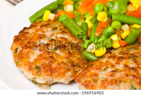Burger with Mixed vegetables