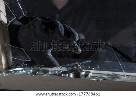 Burglar - stock photo