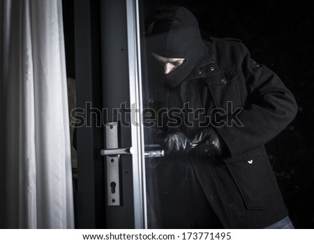 Burglary - stock photo