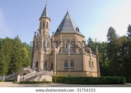 burial chamber of Premyslovci czech dynasty - stock photo