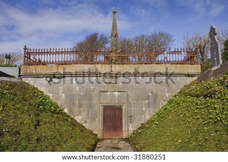 burial tomb in ireland - stock photo