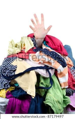 Buried by Chores - stock photo