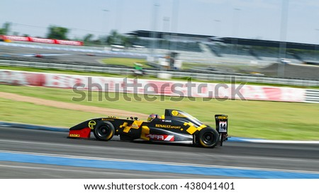 BURIRAM-JUN12: Umar Bin Abdul Rahman of S&D Motorsports team on Buriram festival of Asian Formula Renault on June12, 2016 at Chang International Racing Circuit, Buriram Thailand.