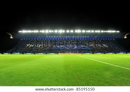 BURIRAM THAILAND-SEP21:I-Moile Stadium during Toyota League Cup match between Buriram PEA(B) and Chonburi Fc(G) at I-mobile Stadium on September21, 2011 Buriram Thailand