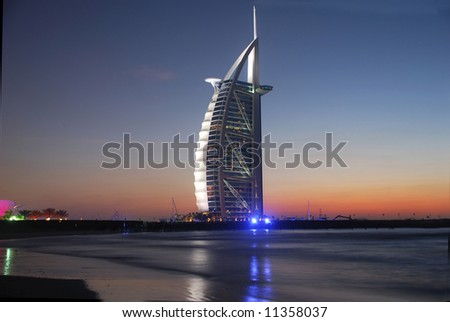 Burj Al Arab, Jumeirah-Beach, Middle East - stock photo