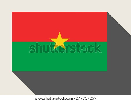 Burkino Faso flag in flat web design style. - stock photo