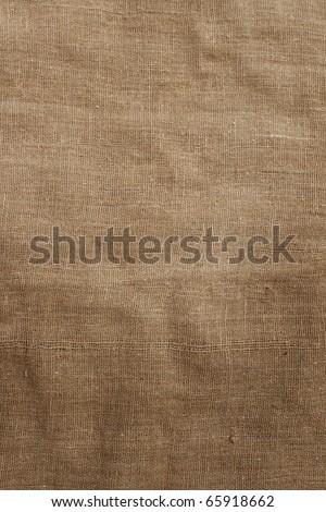 Burlap background. - stock photo