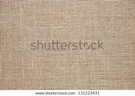 Burlap Background. Natural textured canvas - stock photo